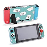 SUPNON Carry Case Compatible with Nintendo Switch, Ultra Slim Hard Shell, Protective Carrying Case for Travel - Japanese Lucky Cat. Watercolor Hand Painted Design25062