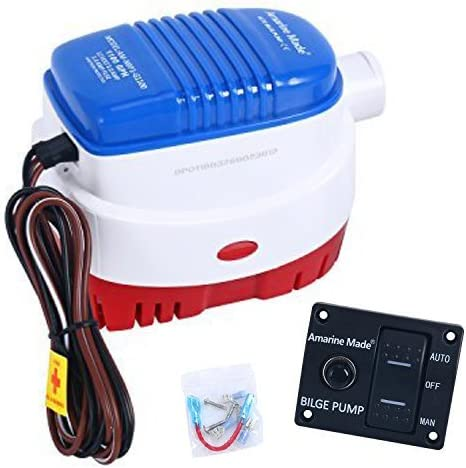 Amarine Max 59% OFF Made 12v 1100gph Automatic NEW before selling ☆ Water Boat Submersible Bilge