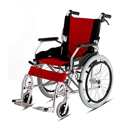 Selbstfahrender Rollstuhl, Luxus, manuell Rollstuhl, zusammenklappbare Licht Reisen Aluminiumlegierung mit Selbstantrieb Rollstuhl behinderter / ältere Menschen Travel Trolley Leichtes Mobilitätsgerät