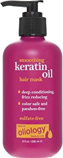 Oliology Smoothing Keratin Oil Hair Mask - Deeply Conditions and Reduces Frizz | Color Safe, Paraben Free, and Sulfate Free (8 oz)