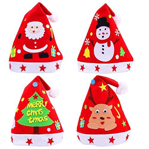 Sombreros de Navidad de terciopelo para adultos, niños, invierno, felpa, gorro de muñeco de nieve para Navidad,...