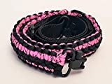 Ten Point Gear Extra Wide Gun Sling Paracord 550 Adjustable w/Swivels (Multiple Color Options) (Black & Pink Camo)