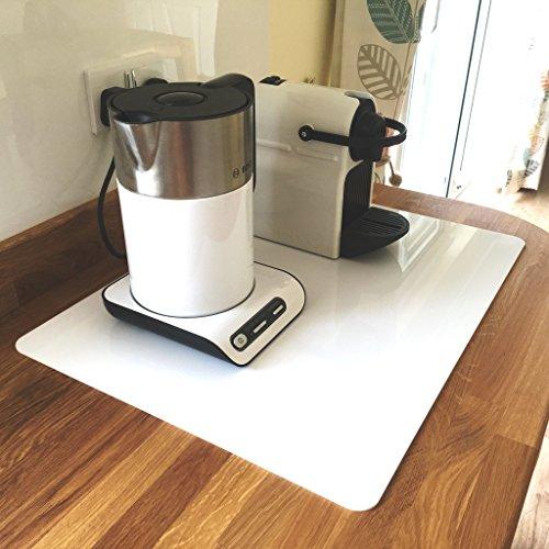 Super Cool Creation Rectangular Worktop Saver, White - Large, 5 mm Thickness