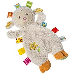 Image: Taggies Sherbet Lamb Lovey Toy | Adorned with interactive and soothing tags babies love to explore