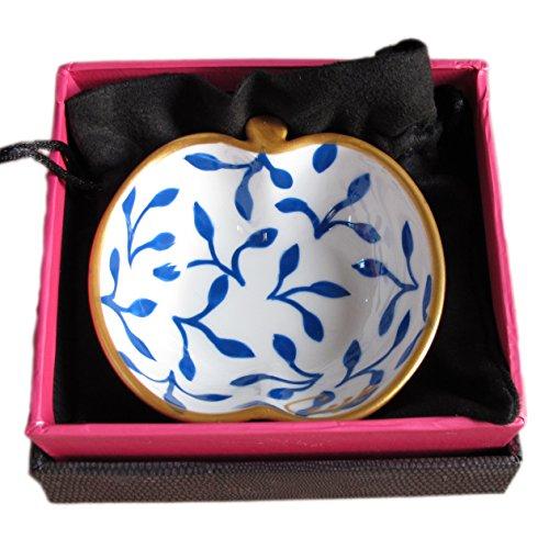 Caroline @ CHH Design Joli Petit Bol Forme Pomme, Vide-Poche, Arts de la Table 'Muse' Peint à la Main sur Les Deux cotés