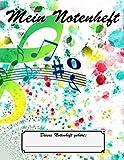 Mein Notenheft | Musikunterricht | A4 | 100 Seiten | Notenblock: Musikunterricht | Klavier | Gesang | Geige | Cello | Gitarre | Keyboard | Musiklehrer