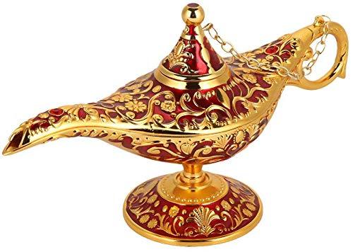 HEEPDD Aladdin magie geest retro metalen sprookjes theepot huis olielamp decoratie voor klassieke Arabisch kostuum rekwisieten party Halloween verjaardagscadeau
