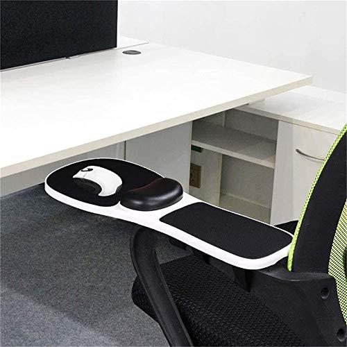 HYE-Table del reposamuñecas del ratón de la Silla | Reposamanos sin Perforaciones para Silla | Mejore la Comodidad Mientras Aumenta el Espacio utilizable en el Escritorio | Blanco, 18'x 7,2'