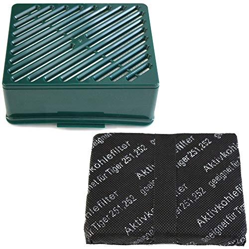 MohMus Filterset HEPA Filter + Kohlefilter geeignet Für Vorwerk Tiger VT 251 252, VT251, VT252