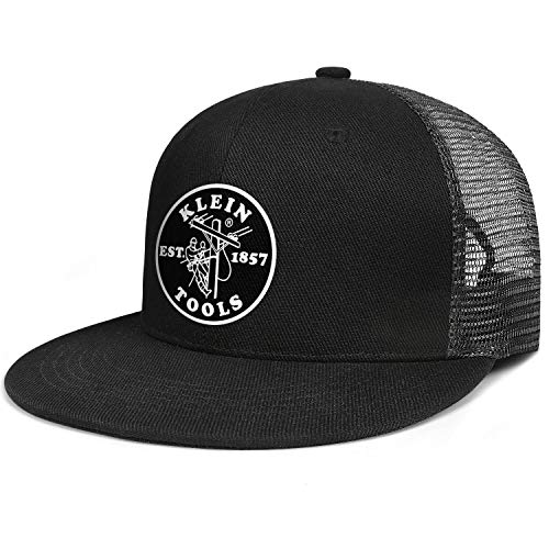 Men Adjustable Snapback Hats Klein Fashion Hip Hop Cap Best Vintage Flat Brim Baseball Hat Women Classic Trucker Hat Black