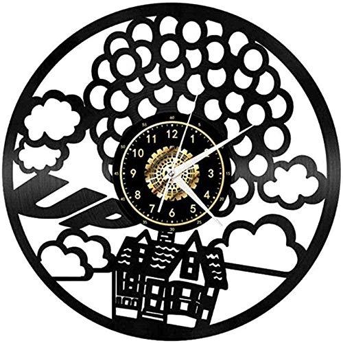 AGGG Reloj de Pared de Vinilo Retro 3D Reloj de Pared de Vinilo Creativo Reloj de Pulsera silencioso de Viaje Regalos de decoración del hogar