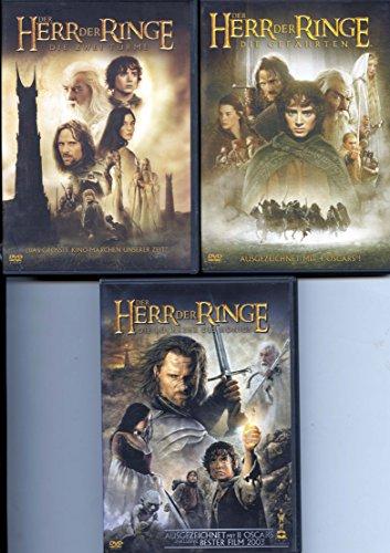 Der Herr der Ringe DVD-Trilogie (Die Gefährten [2 DVDs]; Die zwei Türme [2 DVDs]; Die Rückkehr des Königs [2 DVDs])