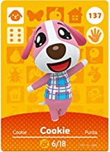 BestTom No.137 Cookie ACNH Animal Villager Card Fan Made.Third Party NFC Card Bank Card Size Water Resistant for Switch/Sw...