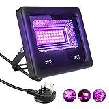 Zwini LED Floodlights UV LED Blacklights 20W IP66 (85V-265V AC) Waterproof Ultraviolet Outdoor LED Spotlights DJ Disco Light for Party Disco Garden Bar Christmas Fishing Aquarium
