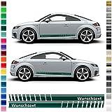AutoDress – Juego de pegatinas laterales para Audi TT en color a elegir