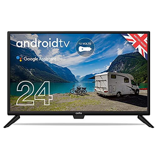 """Cello ZRTG0242 Traveller 12 Volt 24"""" Smart Android TV with Freeview Play,..."""