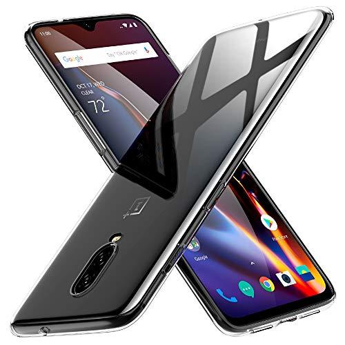 Peakally Cover per OnePlus 6T, Trasparente Morbida TPU Silicone Ultra Sottile Custodia Case per OnePlus 6T -Trasparente