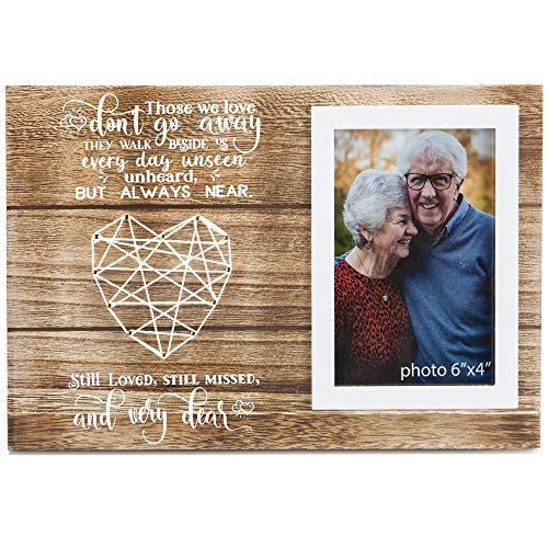 Memorial Gifts Picture Frame - Remembrance Bereavement and Sympathy Gift - In Loving Memory of Mother, Father, Grandma, Grandpa - Photo Frame For Loss of Loved One - Fits 4x6 Inches Photo