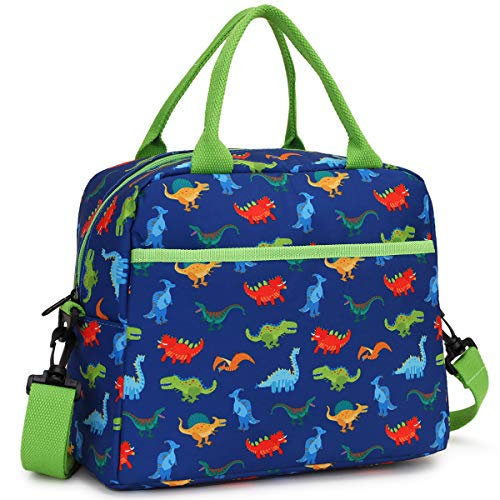 Lunch Bag for Boys Insulated Lunch Box Bag Cute Dinosaur Thermal Lunch Tote with Removable Shoulder Strap VONXURY