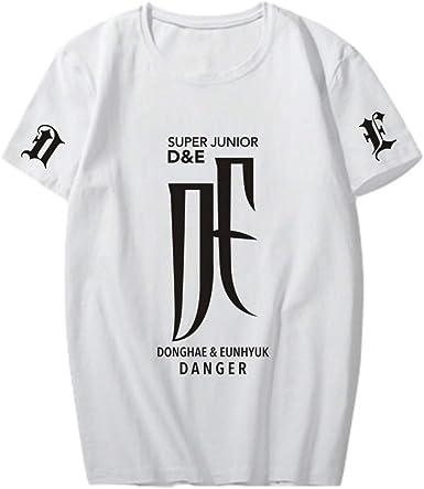 Super Junior D&E Danger T-Shirts Camisetas de Manga Corta de ...