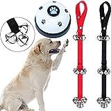 WOHENI Dog Doorbells for Potty Training, Adjustable Potty Dog Bells Pet Bells for Door Knob, Puppy Training, Housebreaking, Go Outside-Potty - 7 Extra Large Loud 1.4 DoorBells (Black+Red)