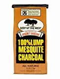 Best of the West All-Natural Mesquite Lump Charcoal for Grilling or Smoking, No Added Preservatives,...