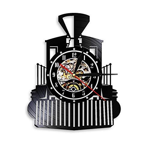 Tbqevc Decoración del hogar Fuego Reloj de Pared Disco de Vinilo Reloj de Arte de Pared con Ventilador 12 Pulgadas