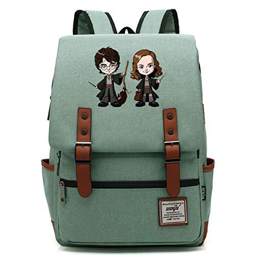 MMZ School Leisure Sports Backpack Children Learning Book Bag Unisex Travel Hiking Backpack Medium Green