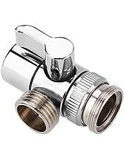 Sink Valve Diverter Kran Splitter, Kran Diverter Ventiler för kök Badrum Handfat Kran Ersättningsdel, Krananslutning för slangadapter