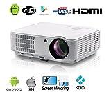Full HD Vidéoprojecteur WiFi sans Fil Android Intelligent vidéo projecteur Full HD...
