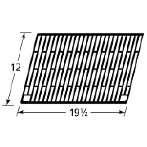 Music City Metals 60201 Gloss Cast Iron Cooking Grid Replacement for Select Charmglow and Olympia Gas Grill Models