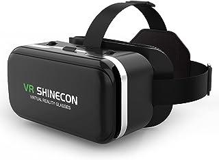 meetdas Casque Réalité Virtuelle, Casque VR 3D Lunettes de réalité virtuelle pour Films et Jeux, 2K VR Headset compatibles...