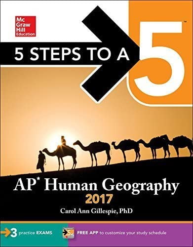 5 Steps to a 5 AP Human Geography 2017 by Carol Ann Gillespie 2016 07 28 product image