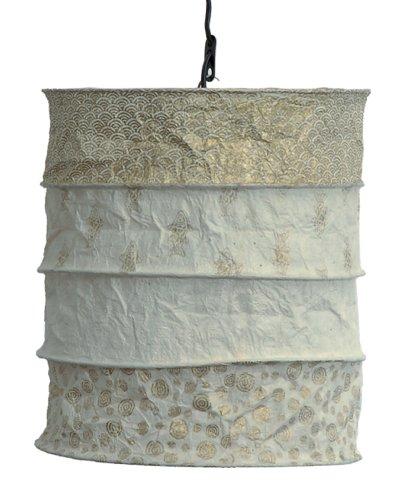 Wunderschöner Lampenschirm - handgeschöpftes Papier, max 40 W. ! Handgefertigtes Kunsthandwerk!