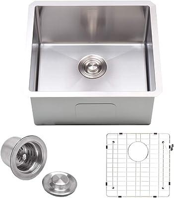 Kraus Khu100 26 Standart Pro 16 Gauge Undermount Single Bowl Kitchen Sink 26 Inch Stainless Steel Amazon Com