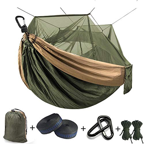 GJZ Ultralight Mosquito net Parachute Hammock with Anti-mosquito bites for Outdoor Camping Tent Using sleeping