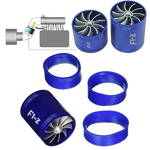 Ting Ao F1-Z Double Turbine Turbo Chargeur d'admission d'air gaz Fuel Saver Fan de Voiture Supercharger