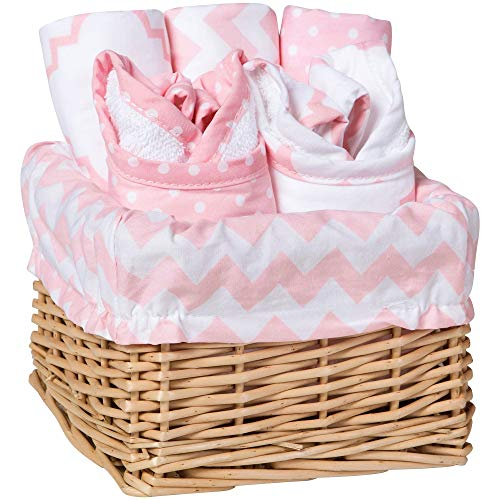 Pink Sky Chevron and Dots 7 Piece Baby...