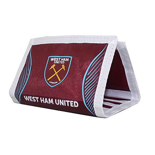 West Ham FC Official Swerve Football Crest Wallet (One Size) (Claret)