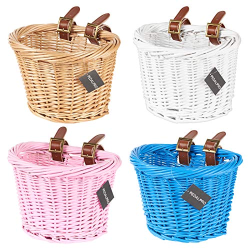 PedalPro Childrens Wicker Bike Basket - Choice of Colour