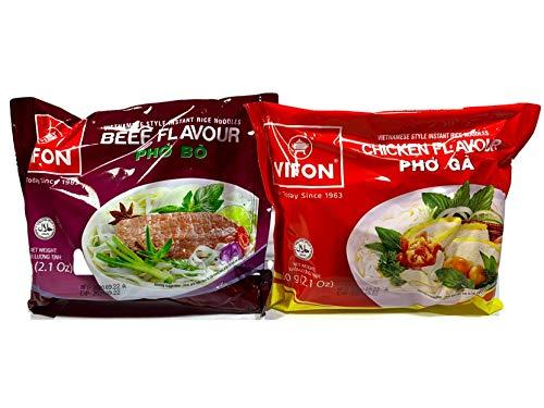 セット品 VIFON ベトナム インスタントフォー ビーフ 牛肉風味 (65g 10袋) チキン 鶏肉風味 (65g 10袋) 詰め合わせ20袋セット VIFON Pho Bo 60g 10 goi Pho Ga 60g 10 goi