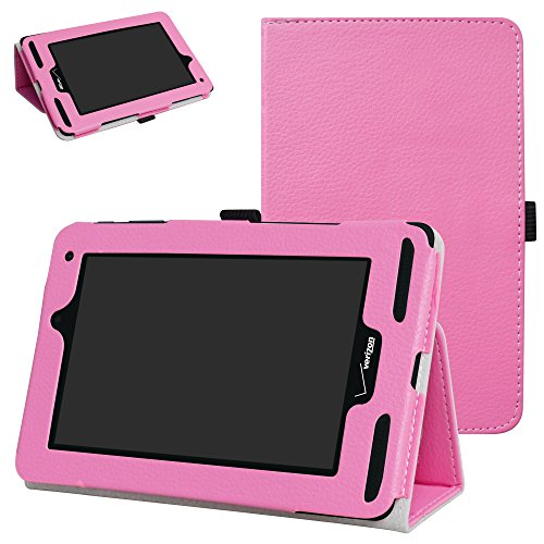 Mama Mouth for Verizon Ellipsis 7 4g LTE Case,Slim Folio 2-Folding Stand Case Cover for 7 Verizon Ellipsis 7 4g LTE Tablet,Pink