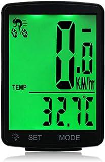 Lixada Impermeable Bicicleta Computadora Inalámbrico LCD Pantalla Multifuncional Velocímetro Odómetro Montar 2.8 Pulgadas