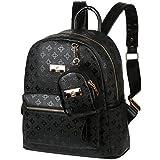 vbiger zaino donna zaino pelle donna borsa a zainetto zaino da viaggio con piccolo portafoglio (nero 1)