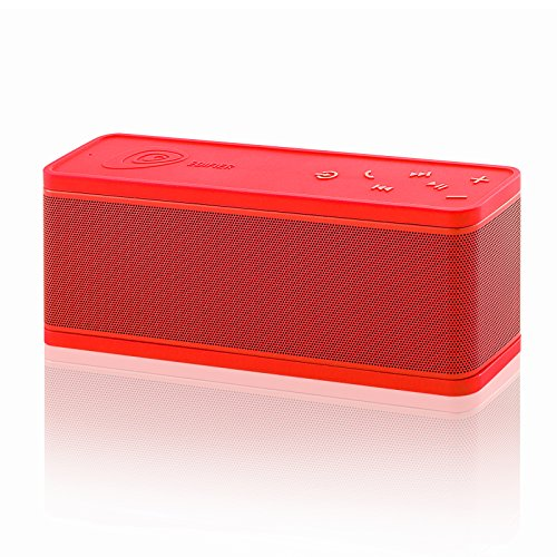 Edifier MP270 Portable Bluetooth Speaker with USB inputs Rechargeable Battery and on-Board Controls - Red