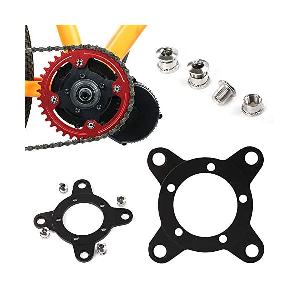 Road Bikes Allsunny Bicycle Holder Bike Accessories,Chain Ring Spider Adapter 104BCD Disc Holder Stand for Bafang Electric Motor