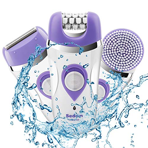 Epilator for Women,Budermmy 3 in 1 Rechargeable Hair Remover,Electric Facial Clean Brush ,Ladies'Razor for Arm,Bikini Line,Armpit,Leg,Back