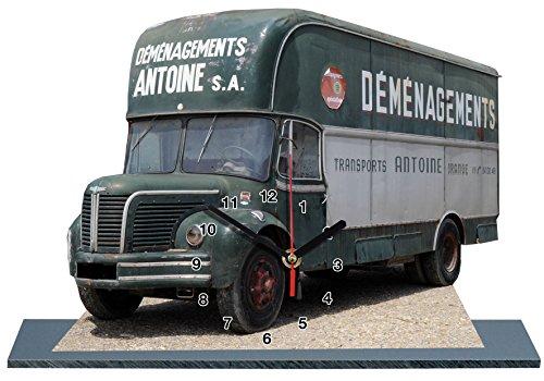 Camion BERLIET en Horloge Miniature sur Socle 05