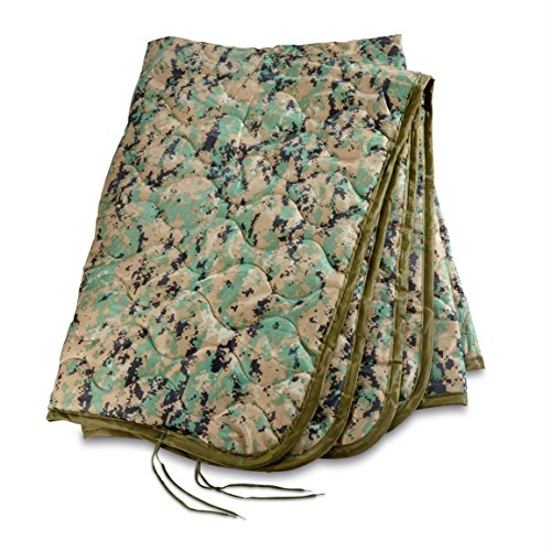Military Style Poncho Liner Blanket - Woobie (Woodland Digital USMC Marpat)