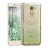 kwmobile LeEco Le Pro 3 Hülle - Handyhülle für LeEco Le Pro 3 - Handy Case in Indische Sonne Design Mintgrün Weiß Transparent